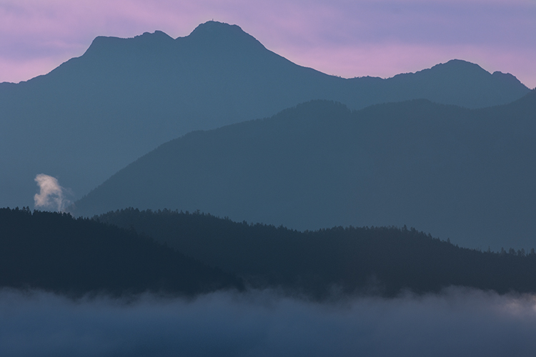 Foggy Kootenay Sunrise